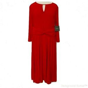 Ellen Tracy Red Lined Jersey Dress NWT- Sz. 8